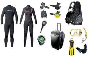 attrezzature subacquee mares