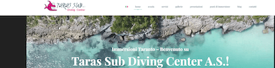 Restyling sito web del Taras Sub Diving Center